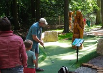 Man playing Adventure Golf