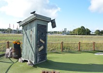 One of City Golf Europes most popular adventure golf obstacle, the outhouse.