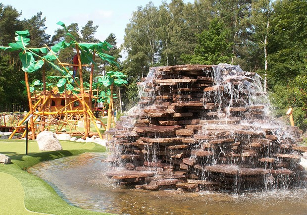 Waterfall at Südsee Adventure Golf