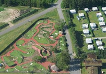 Helicopter shot of the Adventure Golf