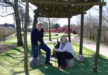 Couple at Jambo adventure golf