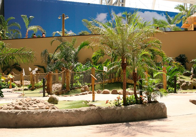 Side view of Tropical Island Adventure Golf