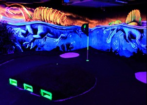 Black Light golf at RastiLand