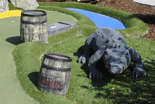 Adventure golf Crocodile Legoland